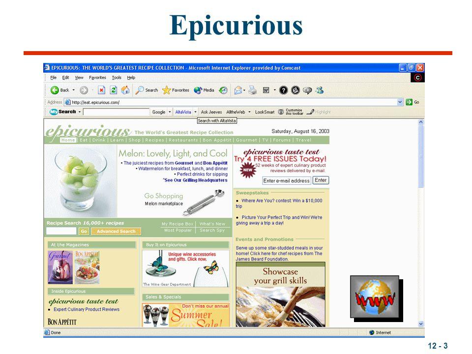 12 - 3 Epicurious