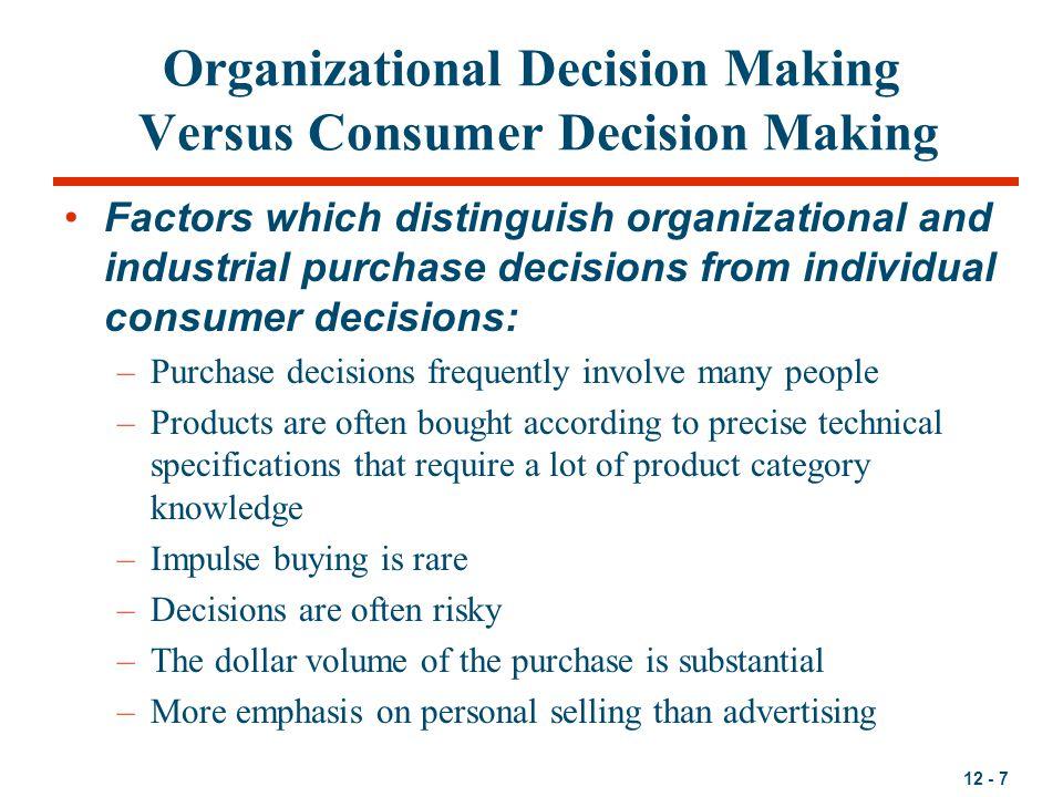 12 - 8 How do Organizational Buyers Operate.