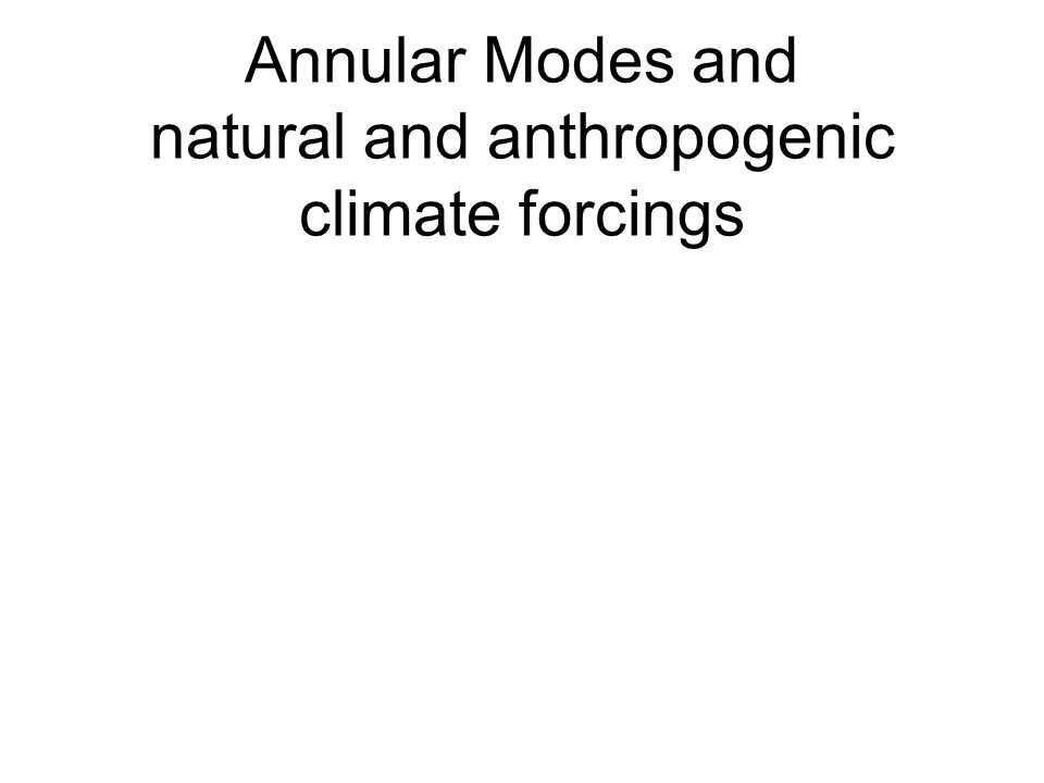Annular Modes and natural and anthropogenic climate forcings