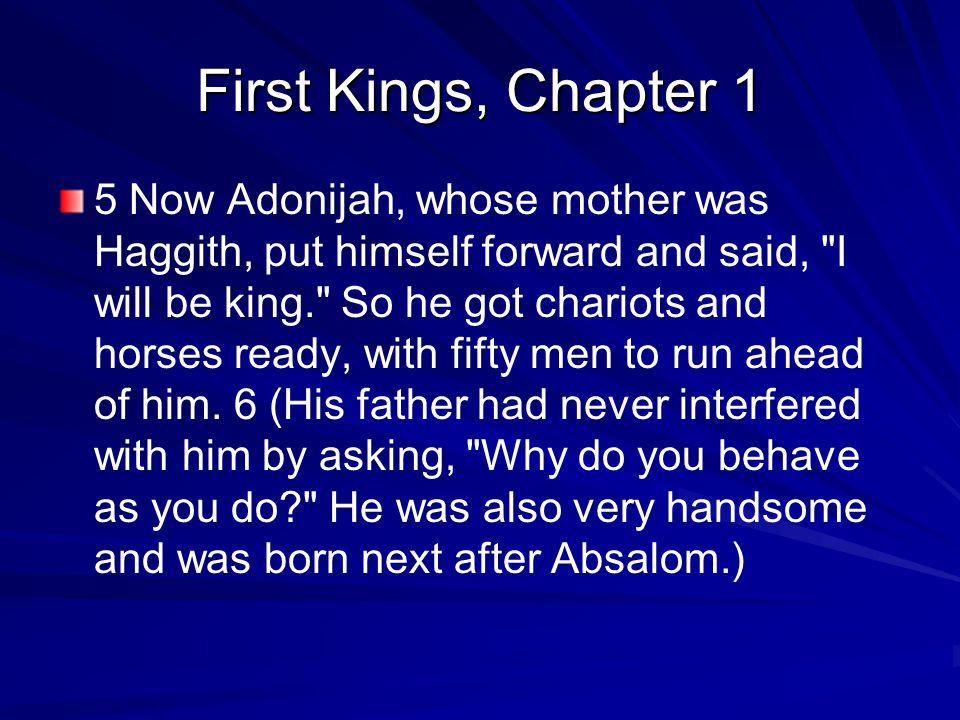 1 Kings, chapter 1 Adonijah sought sanctuary