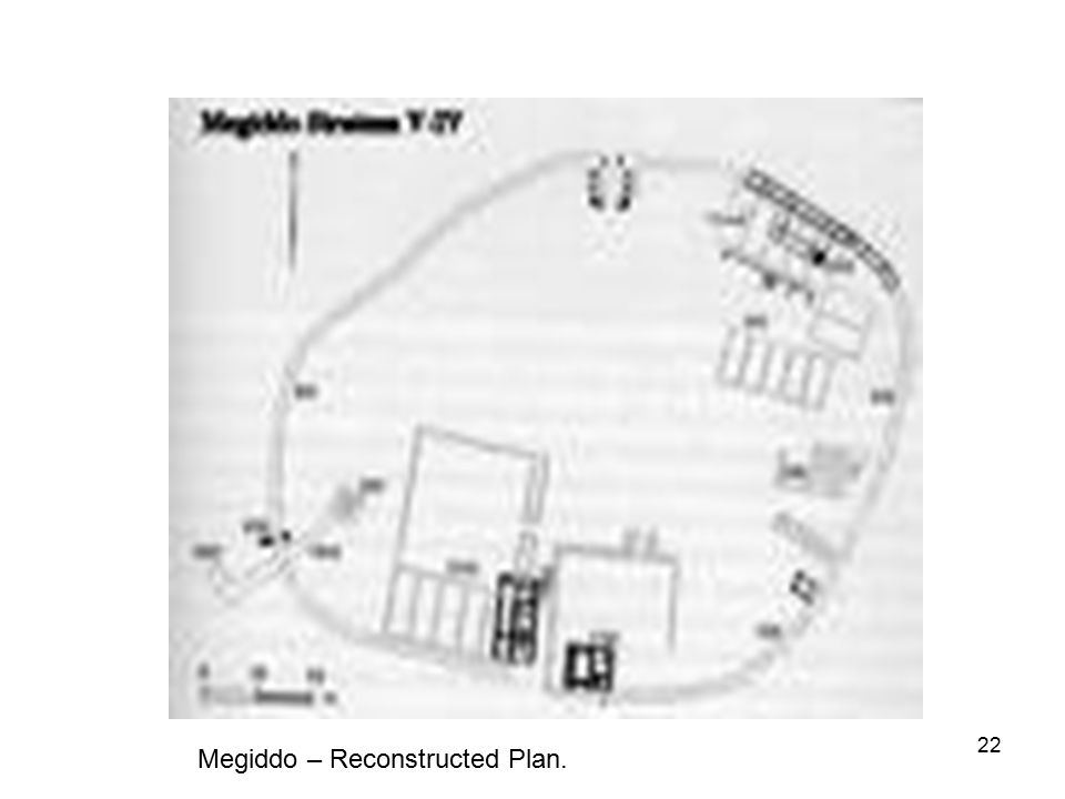22 Megiddo – Reconstructed Plan.