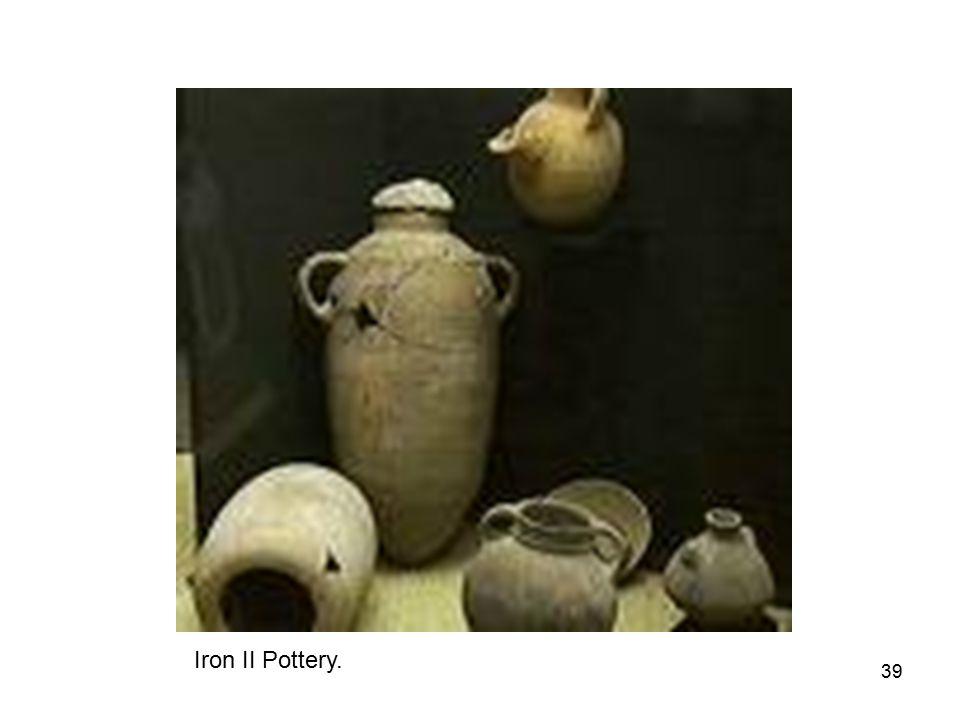 39 Iron II Pottery.