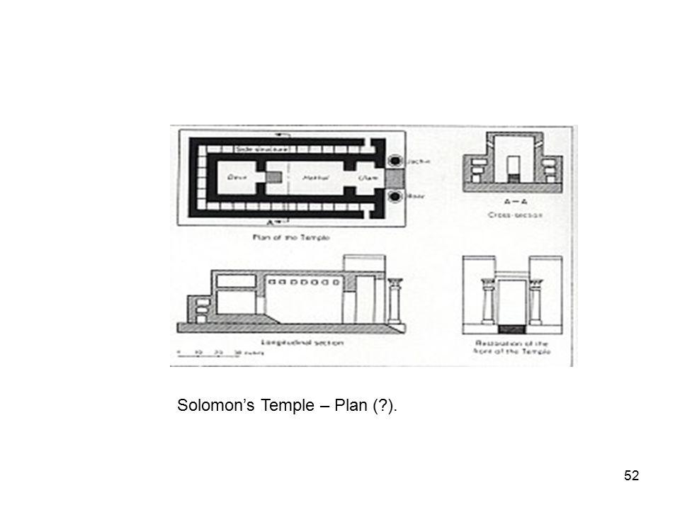 52 Solomon's Temple – Plan ( ).