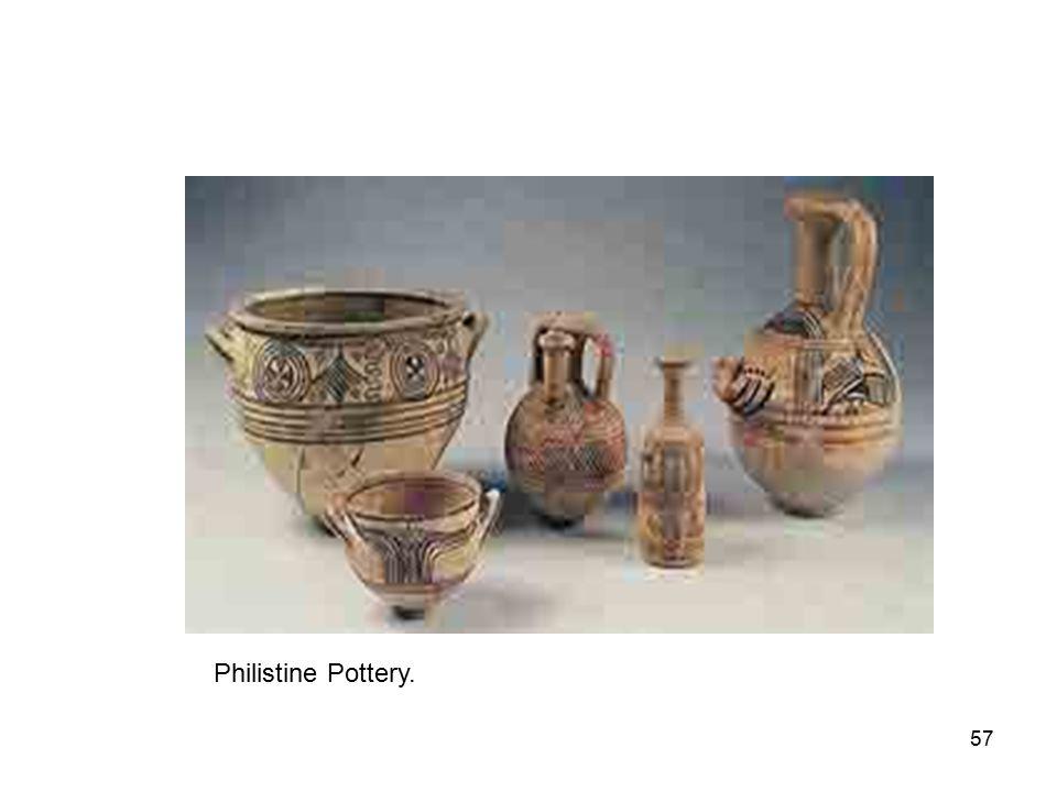 57 Philistine Pottery.