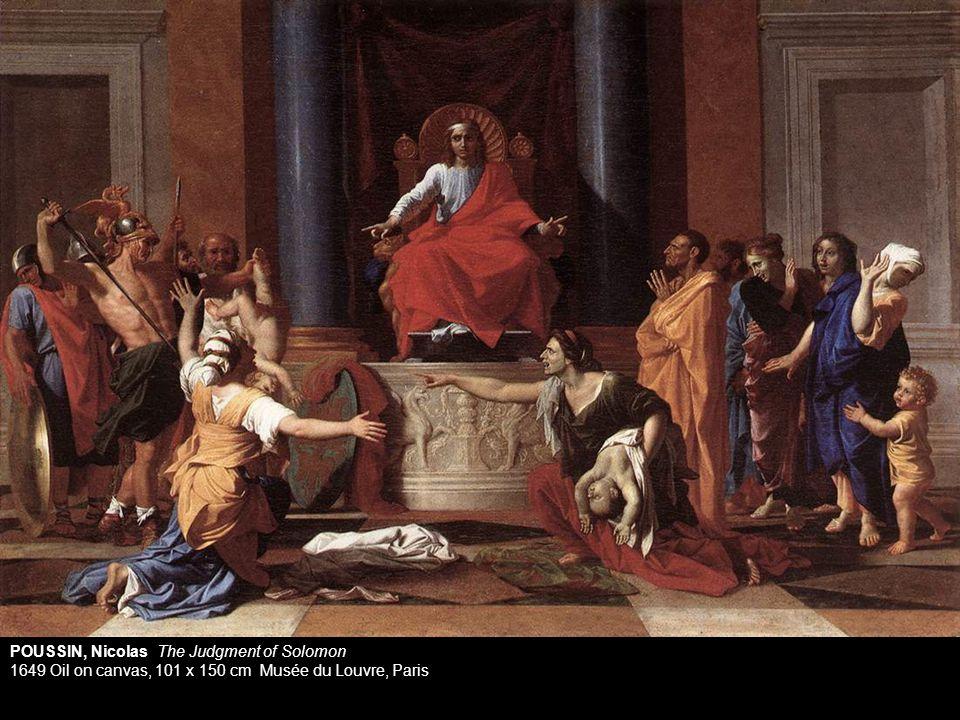 POUSSIN, Nicolas The Judgment of Solomon 1649 Oil on canvas, 101 x 150 cm Musée du Louvre, Paris
