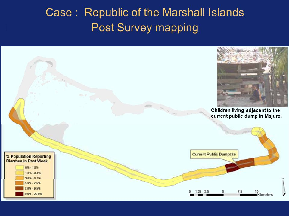 Case : Republic of the Marshall Islands Post Survey mapping Children living adjacent to the current public dump in Majuro.