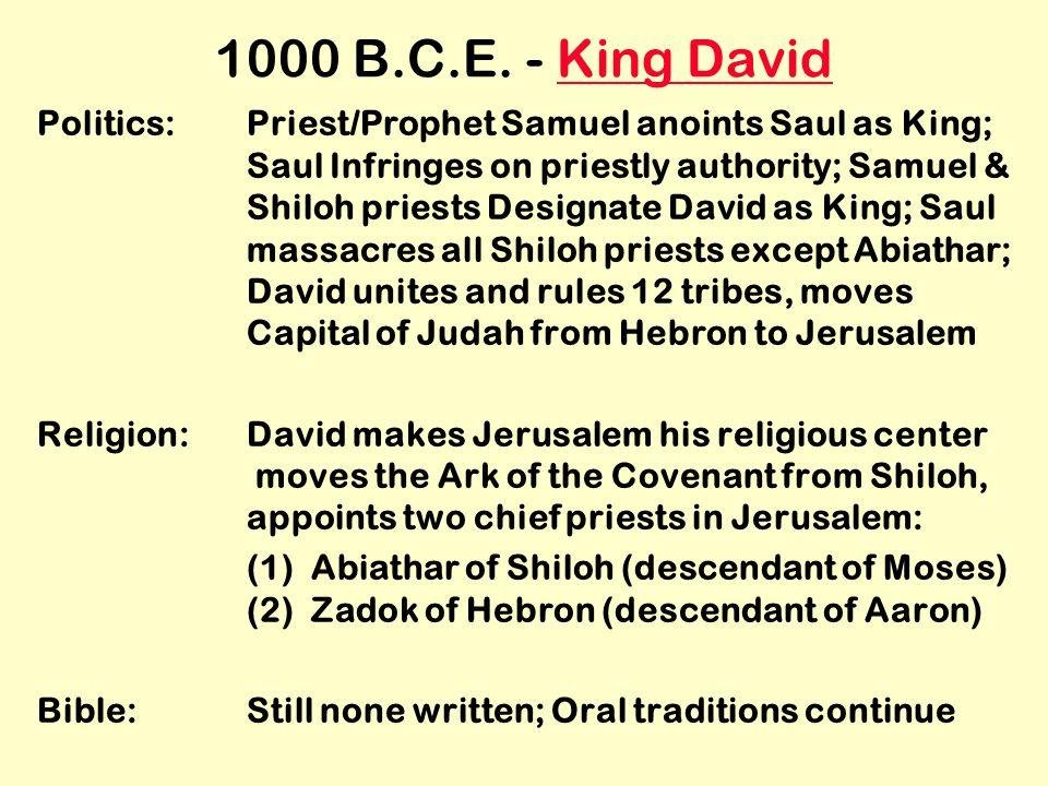 1000 B.C.E.