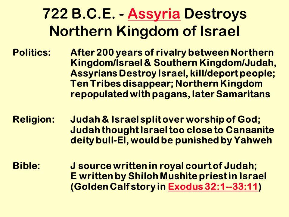 722 B.C.E.