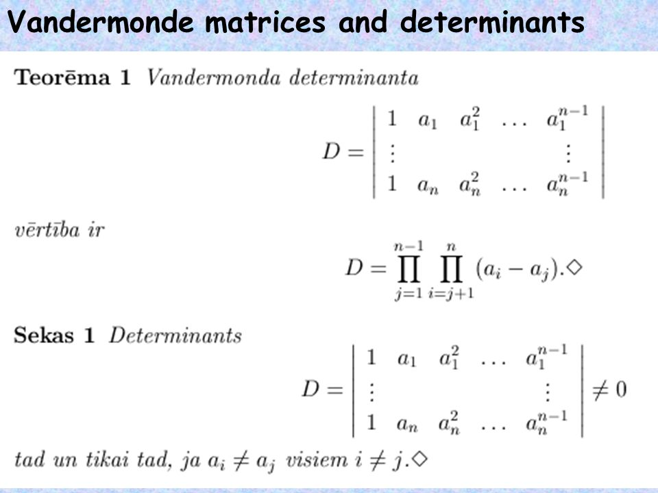 BCH codes [Adapted from V.Pless] The determinant is non-zero, thus,  d.