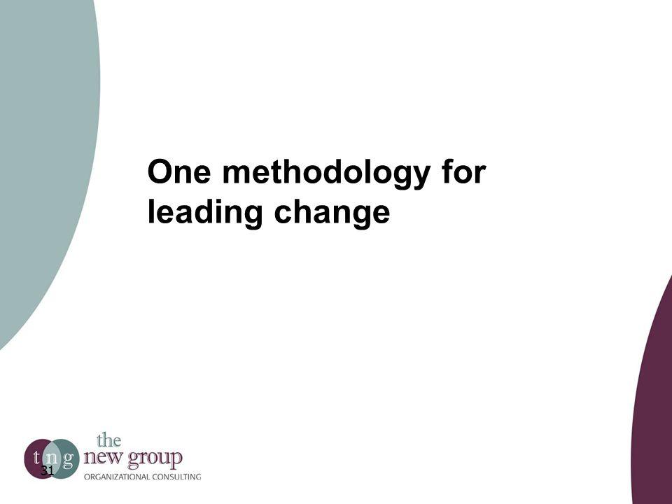 One methodology for leading change 31