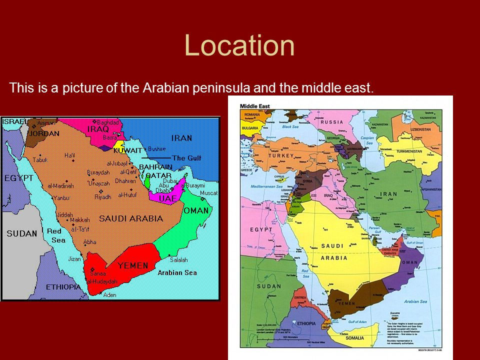 Place These are all places that are in the middle east.