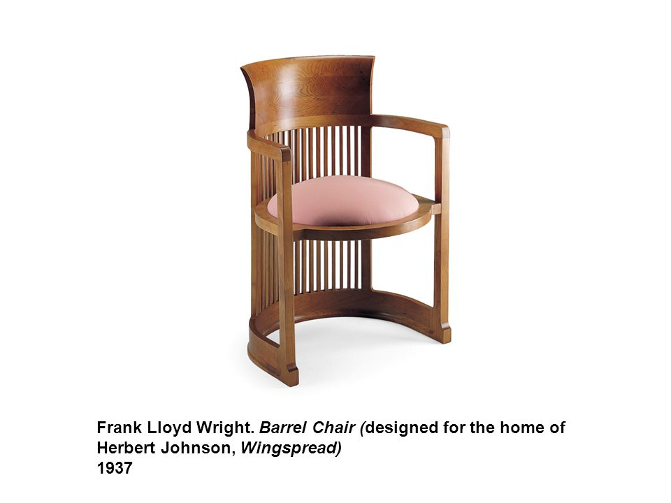 Frank Lloyd Wright. Barrel Chair (designed for the home of Herbert Johnson, Wingspread) 1937