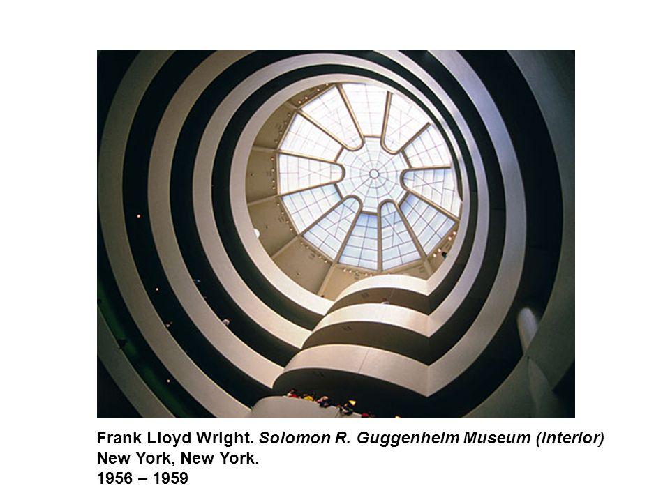 Frank Lloyd Wright. Solomon R. Guggenheim Museum (interior) New York, New York. 1956 – 1959