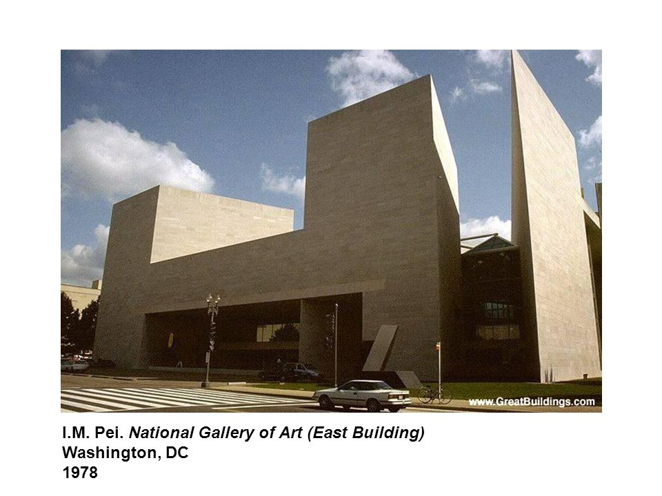 I.M. Pei. National Gallery of Art (East Building) Washington, DC 1978