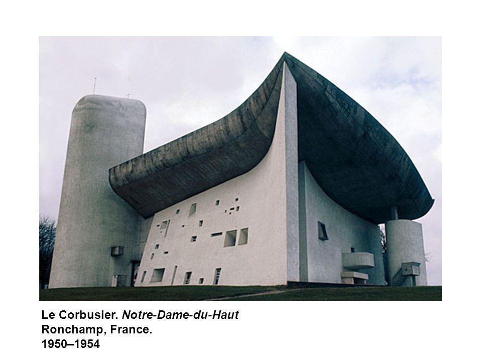 Le Corbusier. Notre-Dame-du-Haut Ronchamp, France. 1950–1954