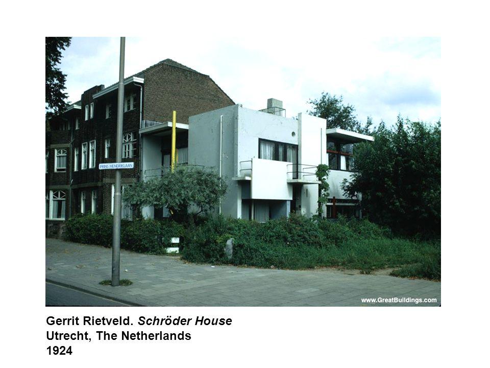 Gerrit Rietveld. Schröder House Utrecht, The Netherlands 1924
