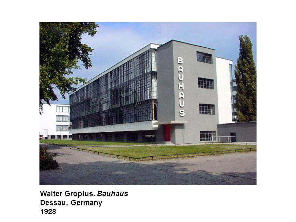 Walter Gropius. Bauhaus Dessau, Germany 1928