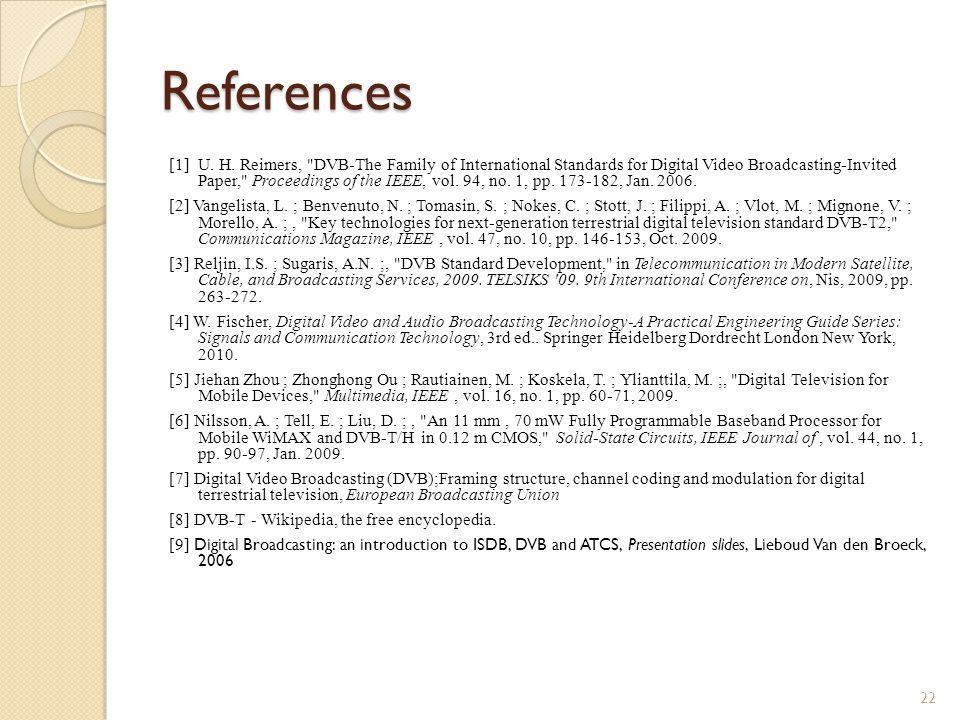 References [1] U. H.