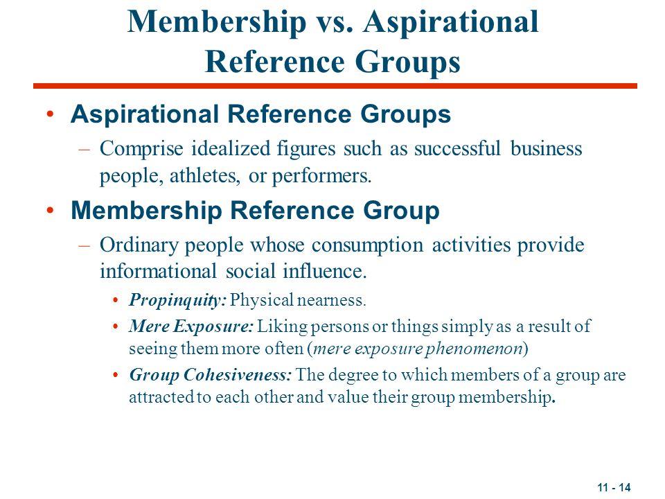 11 - 14 Membership vs.