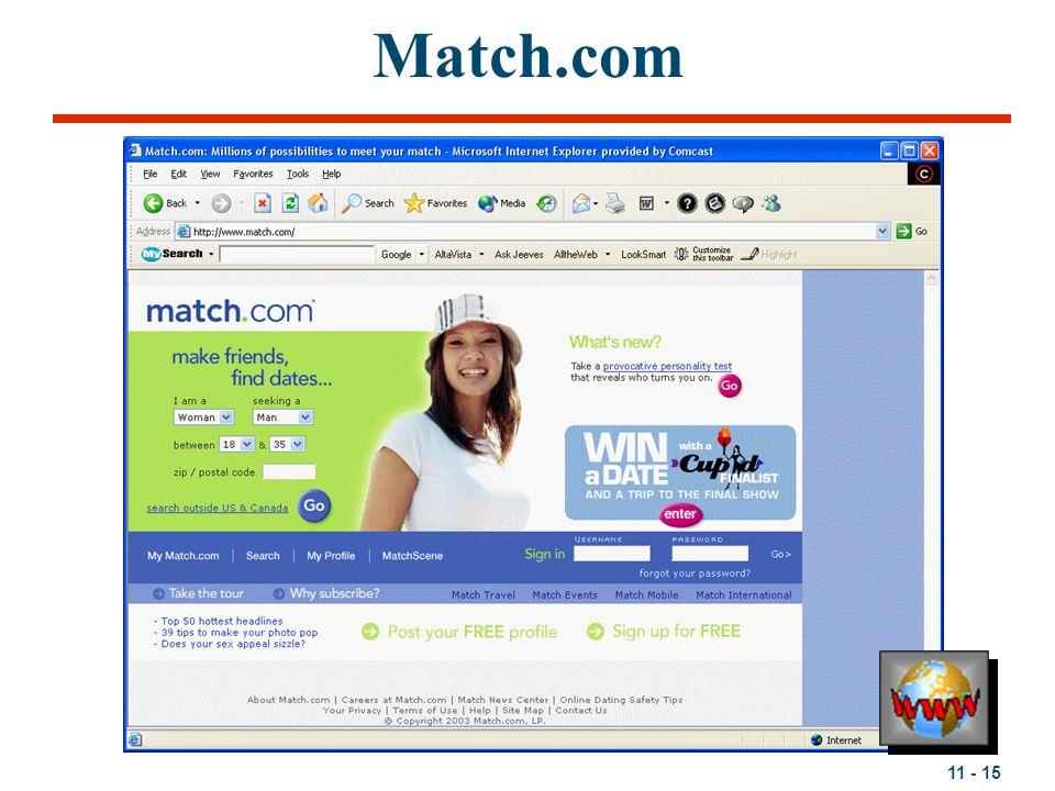 11 - 15 Match.com