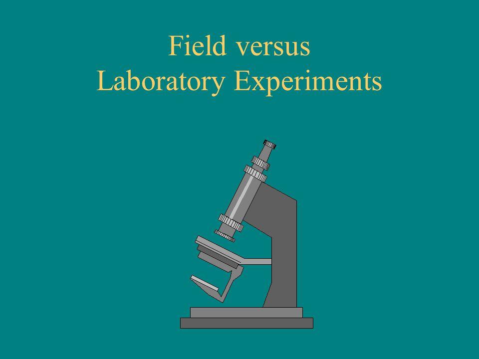 Field versus Laboratory Experiments