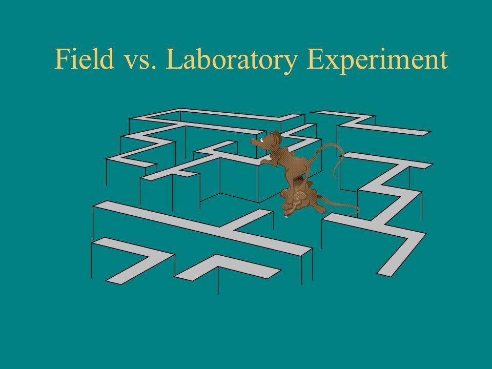 Field vs. Laboratory Experiment