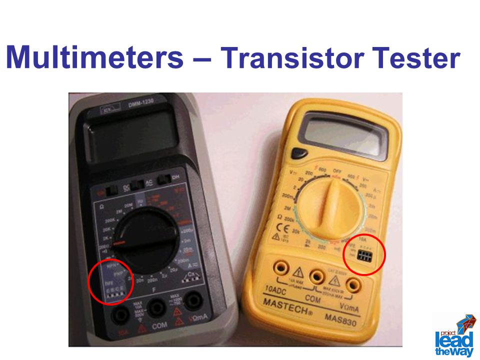 Multimeters – Transistor Tester