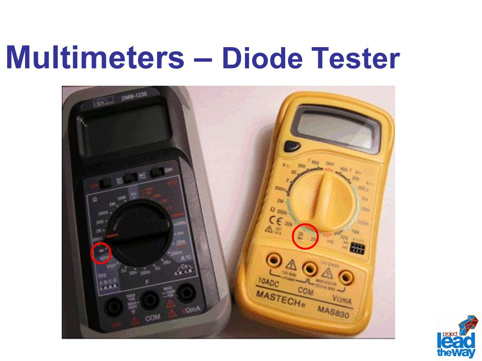 Multimeters – Diode Tester