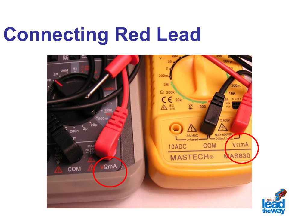 Connecting Red Lead
