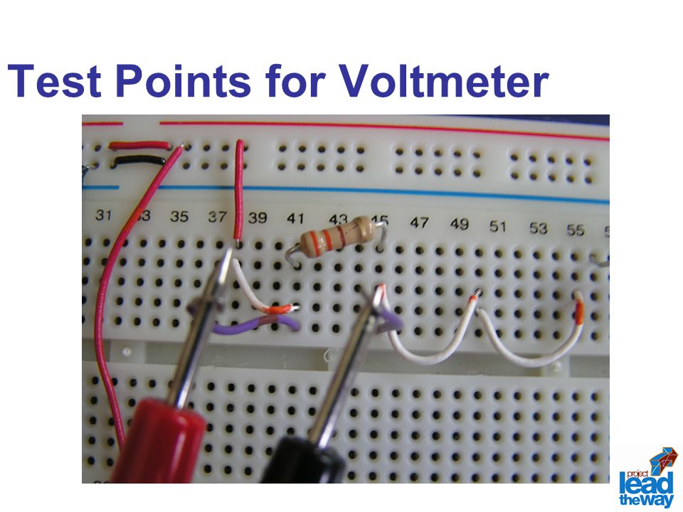Test Points for Voltmeter