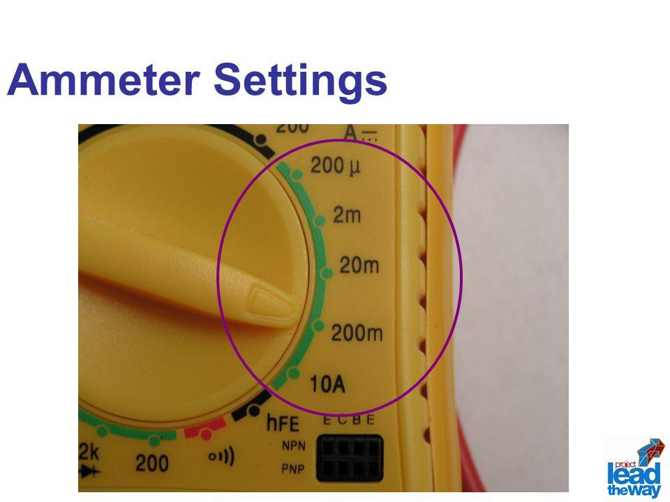 Ammeter Settings