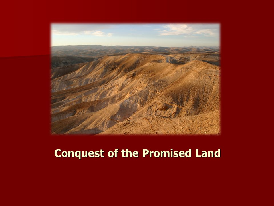Conquest of the Promised Land