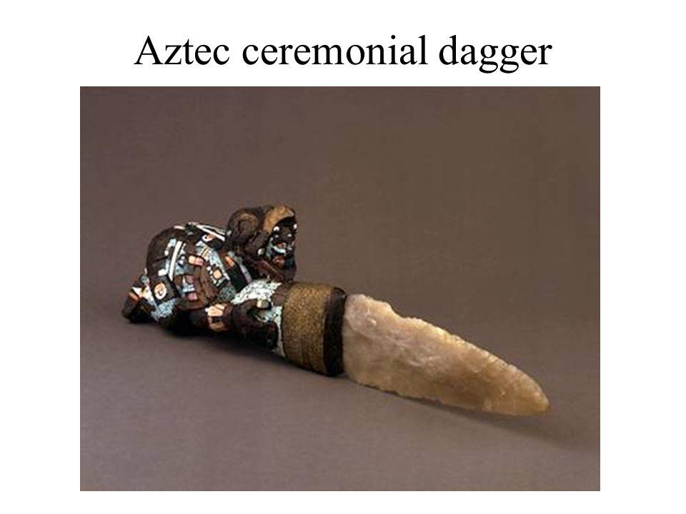 Aztec ceremonial dagger