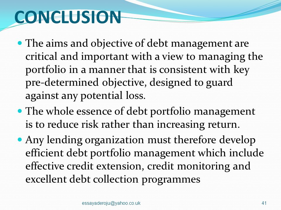 MANAGEMENT OF PROBLEM LOANS PRUDENTIAL GUIDELINES essayaderoju@yahoo.co.uk40 CategoryClassificati on CharacteristicsRequired provision ActiveIPrincipa
