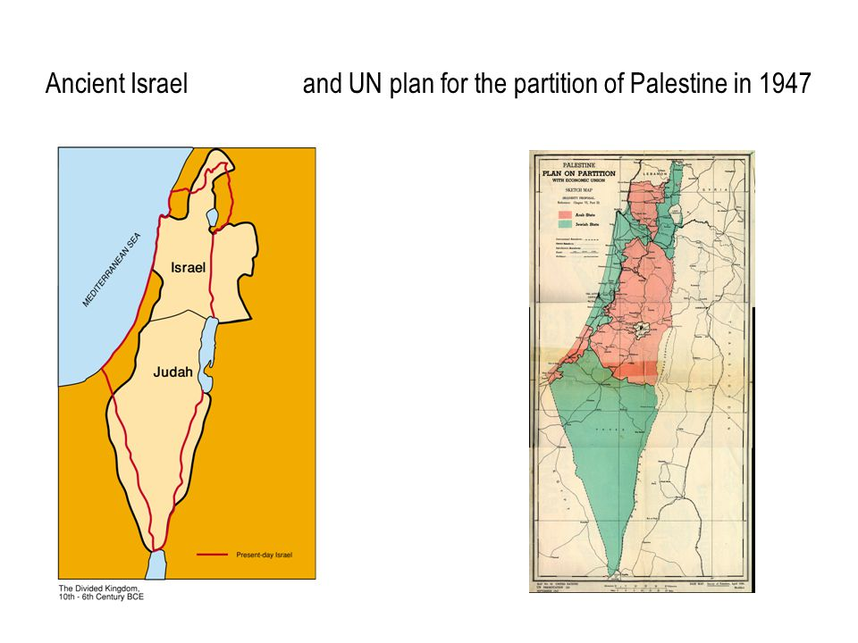 Ancient Israel and UN plan for the partition of Palestine in 1947