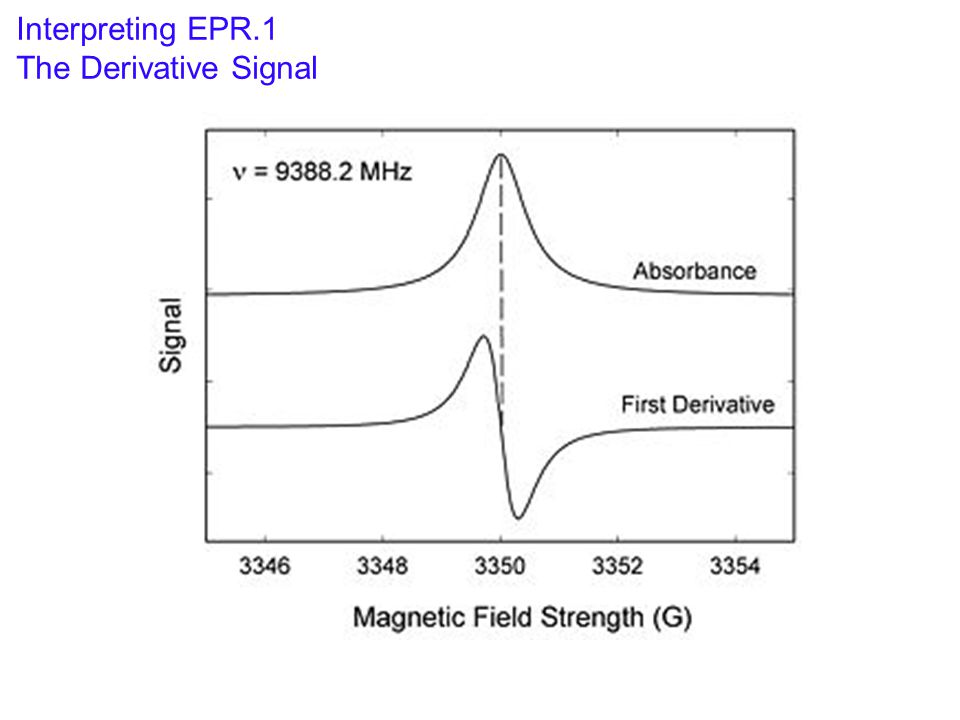 Interpreting EPR.1 The Derivative Signal