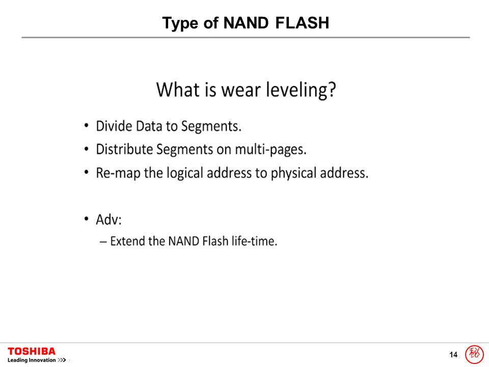 14 秘 Type of NAND FLASH
