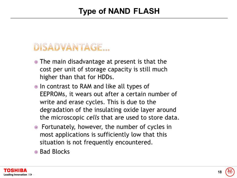 18 秘 Type of NAND FLASH