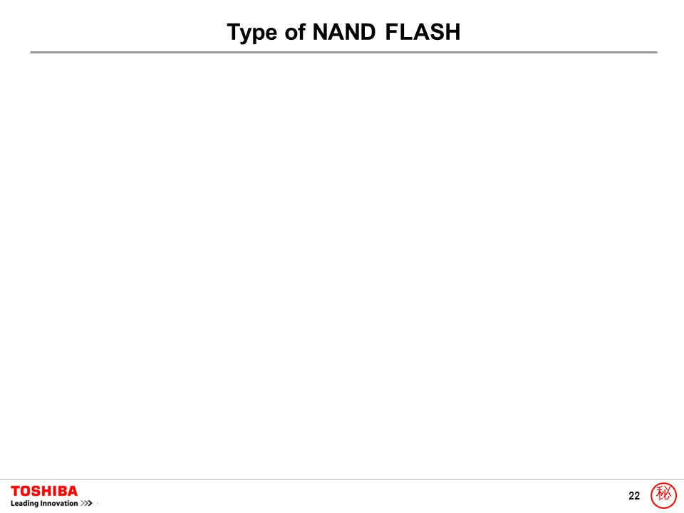 22 秘 Type of NAND FLASH