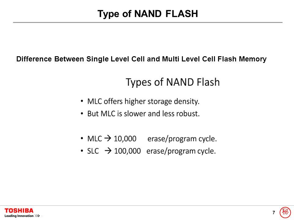7 秘 Difference Between Single Level Cell and Multi Level Cell Flash Memory Type of NAND FLASH
