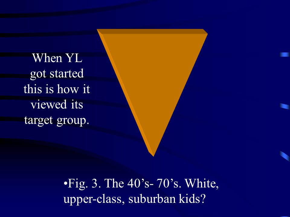 Fig. 3. The 40's- 70's. White, upper-class, suburban kids.