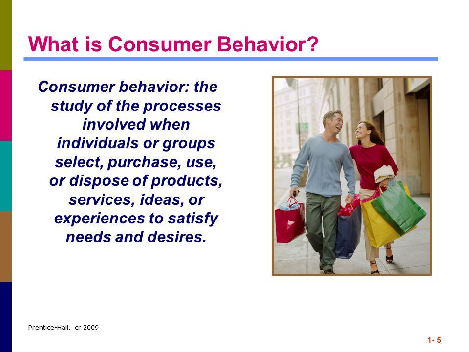 Prentice-Hall, cr 2009 1- 5 What is Consumer Behavior.