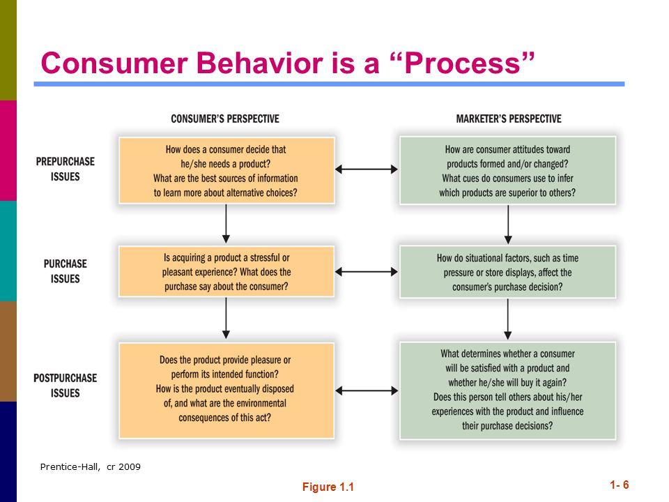 Prentice-Hall, cr 2009 1- 6 Consumer Behavior is a Process Figure 1.1