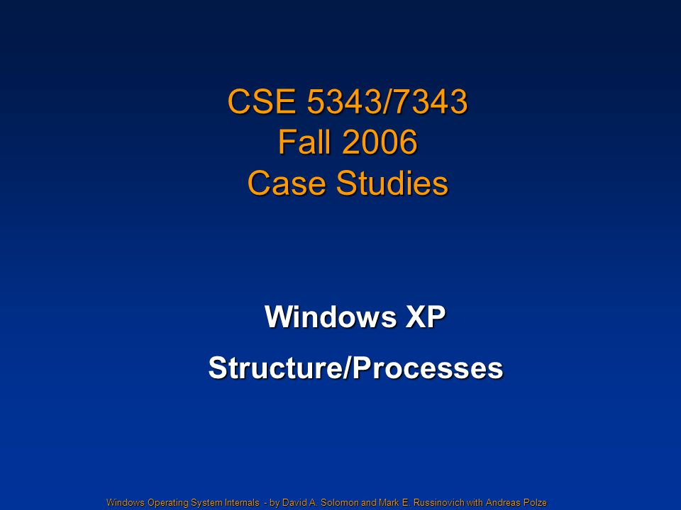 Windows Operating System Internals - by David A. Solomon and Mark E.
