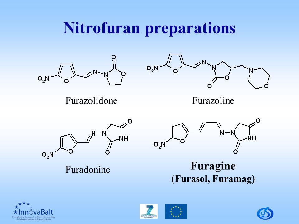 Nitrofuran preparations FurazolidoneFurazoline Furadonine Furagine (Furasol, Furamag)