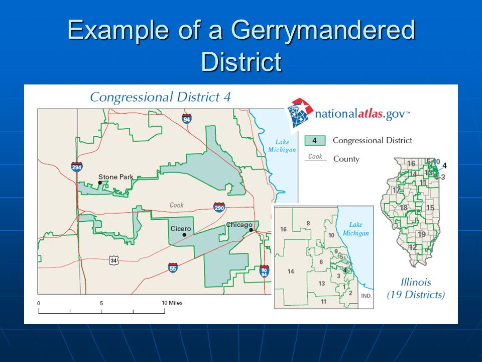 Example of a Gerrymandered District