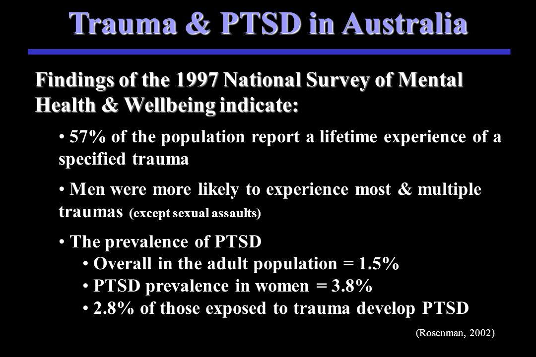 PTSD in U.S.A. Over 50% of U.S.