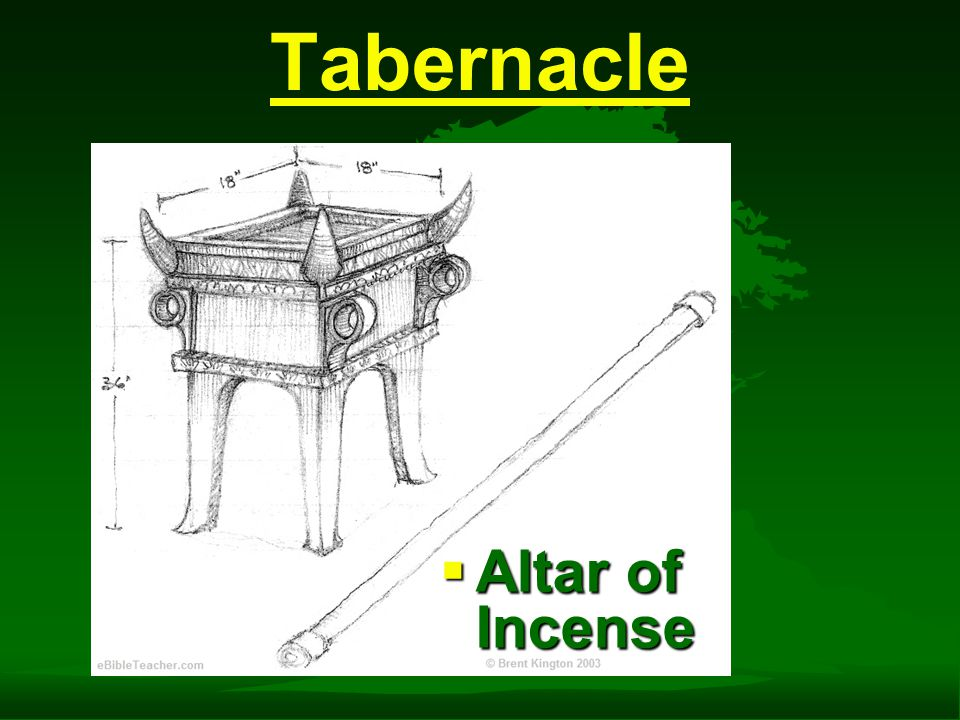 Tabernacle  Altar of Incense