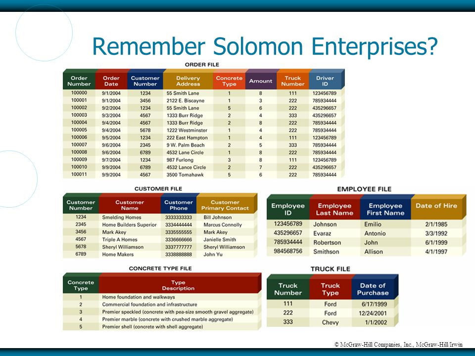 © McGraw-Hill Companies, Inc., McGraw-Hill/Irwin Remember Solomon Enterprises?