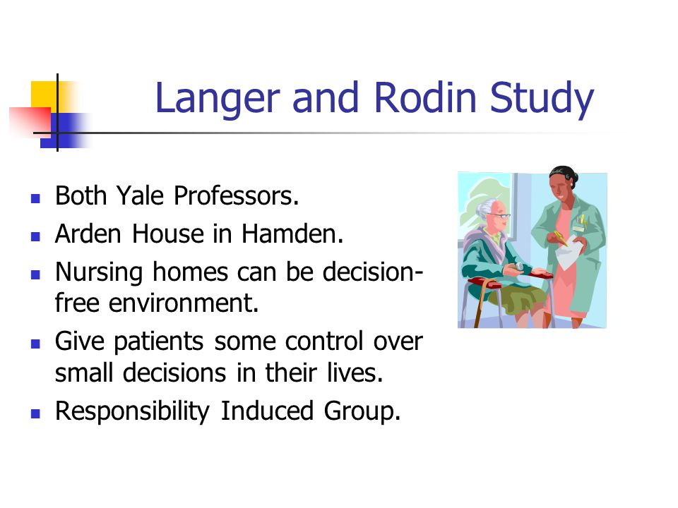 Langer and Rodin Study Both Yale Professors.Arden House in Hamden.